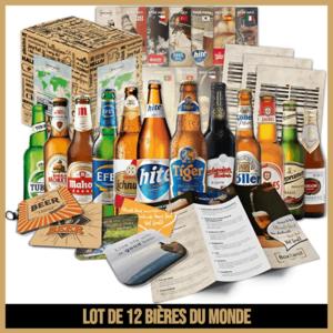 Lot de 12 bières du monde