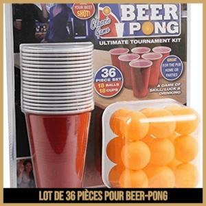 Lot de 36 pièces pour beer-pong