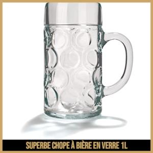 Superbe chope a bière en verre