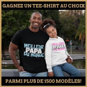 Concours : Gagnez un tee-shirt au choix parmi plus de 1500 modèles!