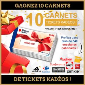Concours : Gagnez 10 carnets de tickets Kadéos!