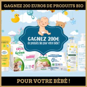Concours : Gagnez 200 euros de produits bio pour votre bébé