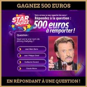 Concours : Gagnez 500 euros en répondant à une question !