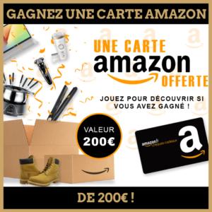 Concours : Gagnez une carte cadeau amazon de 200 euros