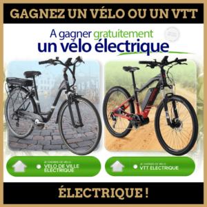 Concours : Gagnez un Vélo ou un VTT électrique !